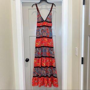 Alice & Olivia Karolina Floral Maxi Dress Size 10